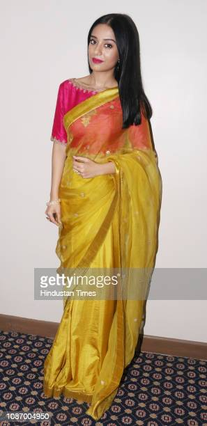 Bollywood actor Amrita Rao spotted during an event at Andheri on January 20 2019 in Mumbai India
