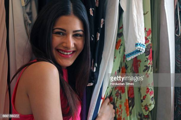 Bollywood actor Amyra Dastur poses during an exclusive interview with ht48hoursHindustan Times at Khatau Mansion Bhulabhai Desai Road on March 2 2017...