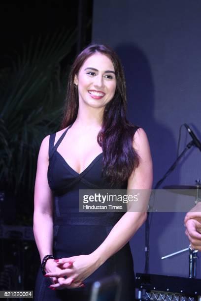 Bollywood actor and anchor Lauren Gottlieb during the launch of Ministry of Beer on July 14 2017 in Gurgaon India