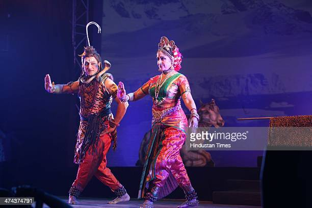 Bollywood actor and Bharatanatyam dancerchoreographer Hema Malini performs Durga a dance ballad with an artist Madhavapeddi Murthy as a lord Shiva...