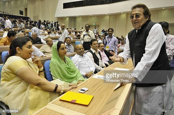 Bollywood actor and BJP leader Vinod Khanna Union HRD Minister Smriti Irani Union Minister of Food Processing Industries Harsimrat Kaur Badal...