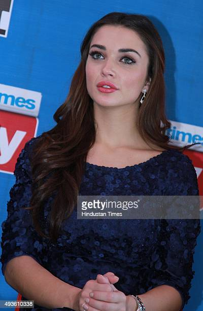 Bollywood actor and British model Amy Jackson during an exclusive with HT CityHindustan Times for the promotion of upcoming film Singh Is Bliing at...