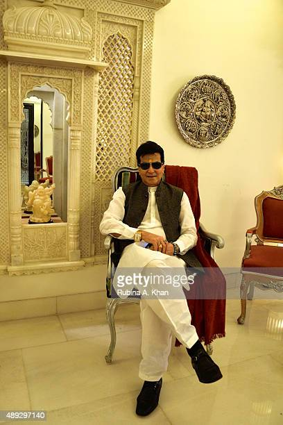 Bollywood actor and legend Jeetendra hosted a celebratory Ganesh Chaturthi lunch at his residence Krishna Bungalow on September 20 2015 in Mumbai...