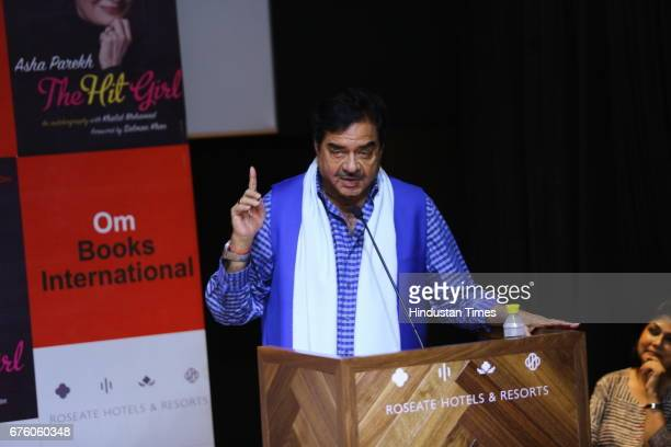 Bollywood actor and MP Shatrughan Sinha during the launch of Asha Parekh's autobiography The Hit Girl cowritten with film critic Khalid Mohamed on...