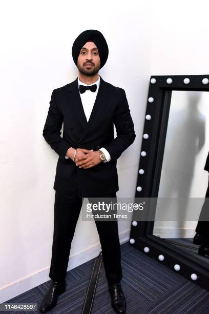 Bollywood actor and musician Diljit Dosanjh during the unveiling of his wax statue at Madame Tussauds Museum on March 28 2019 in New Delhi India