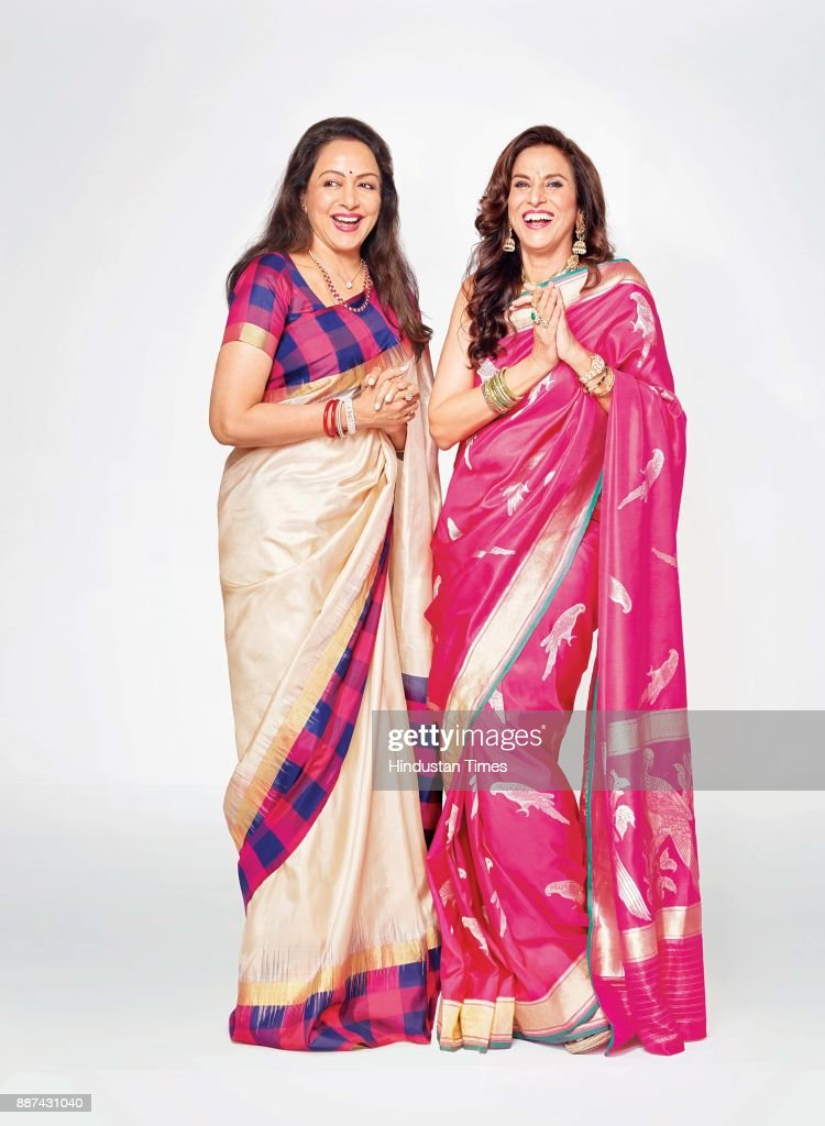Bollywood actor and politician Hema Malini and author and columnist Shobhaa De during an exclusive interview with HT Brunch-Hindustan Times, at the JW Marriott, on November 20, 2017 in Mumbai, India.