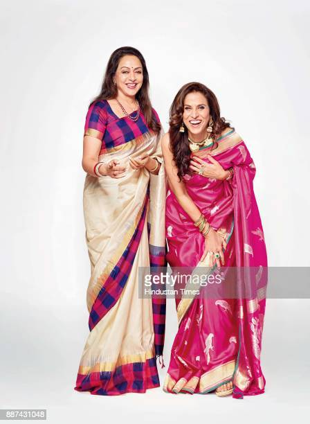 Bollywood actor and politician Hema Malini and author and columnist Shobhaa De during an exclusive interview with HT BrunchHindustan Times at the JW...