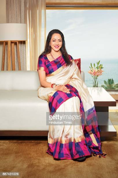Bollywood actor and politician Hema Malini during an exclusive interview with HT BrunchHindustan Times at the JW Marriott on November 20 2017 in...