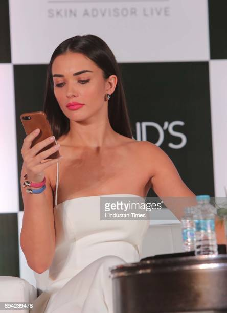 Bollywood actor and Pond's brand Ambassador Amy Jackson during the launch of Skin Advisor Live mobile application which helps women transform their...