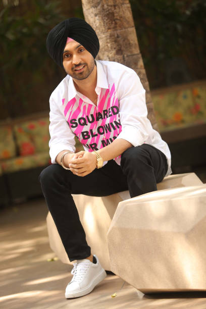 Bollywood actor and Punjabi singer Diljit Dosanjh poses during an interview with Hindustan Times at Le Meridian on March 21 2017 in New Delhi India