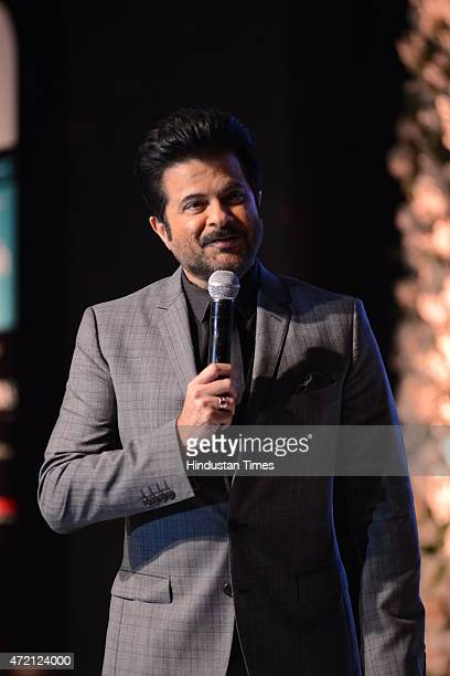 Bollywood actor Anil Kapoor after receiving Style Legend Award during the Hindustan Times Delhis Most Stylish 2015 award function on May 2 2015 in...