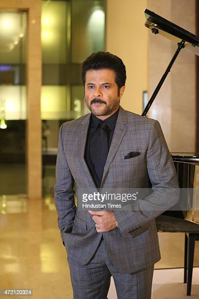 Bollywood actor Anil Kapoor poses for the camera during the Hindustan Times Delhis Most Stylish 2015 award function on May 2 2015 in New Delhi India