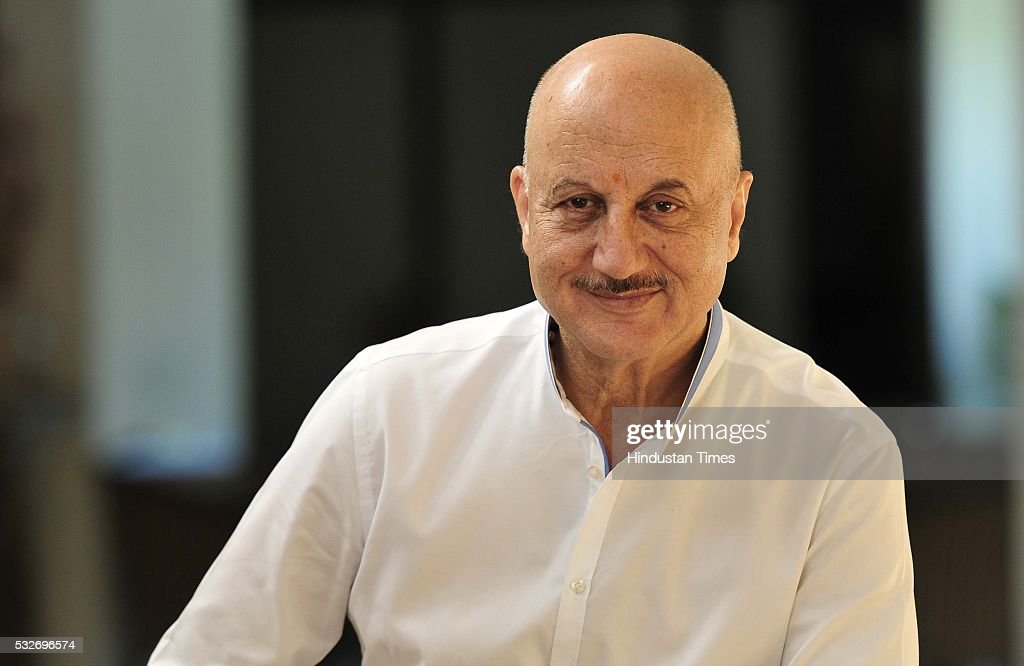 Bollywood actor Anupam Kher before a play `Mera Who Matlab Nahi Tha` in Tagore Theatre on May 18 2016 in Chandigarh India Written by actor Rakesh...