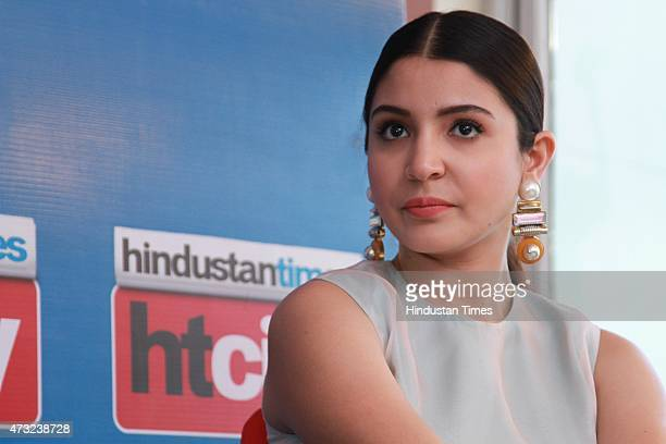 Bollywood actor Anushka Sharma during an exclusive interview with HT CityHindustan Times for the promotion of upcoming film Bombay Velvet at HT Media...