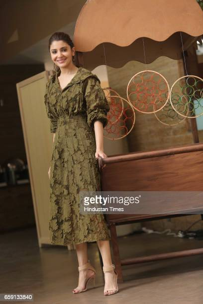 Bollywood actor Anushka Sharma poses for a profile shoot at Le Meridian on March 21 2017 in New Delhi India