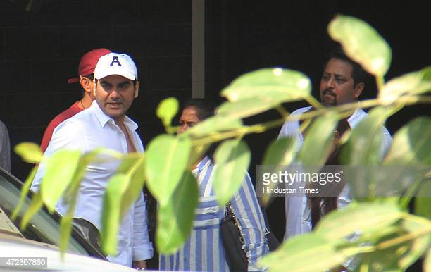 Bollywood actor Arbaaz Khan sister Arpita and Alvira met Salman Khan at his Bandra residence on Wednesday morning on May 6 2015 in Mumbai India The...
