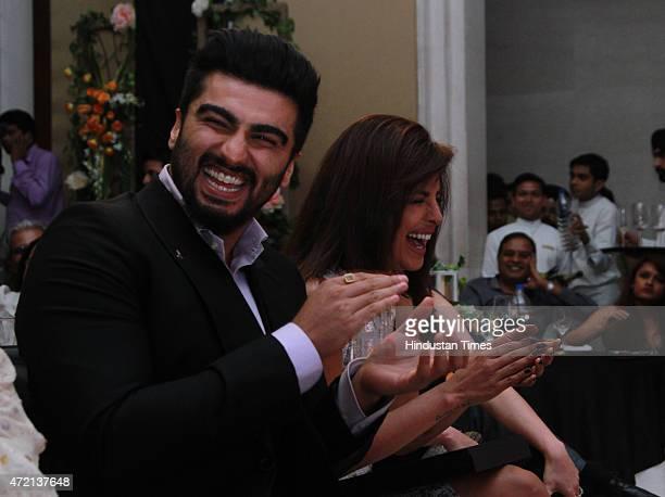 Bollywood actor Arjun Kapoor and Priyanka Chopra during the Hindustan Times Delhis Most Stylish 2015 award function on May 2 2015 in New Delhi India
