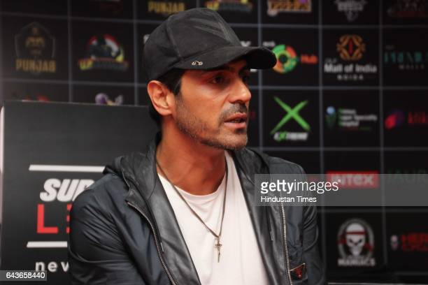Bollywood actor Arjun Rampal during an exclusive interview with HT CityHindustan Times at Super Fight League2017 Siri Fort Auditorium on February 18...