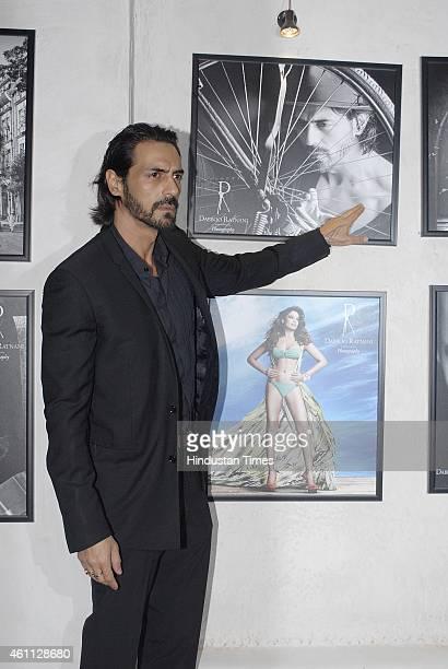 Bollywood actor Arjun Rampal during the launch of Fashion photographer Dabboo Ratnani's 2015 calendar on January 5 2015in Mumbai India