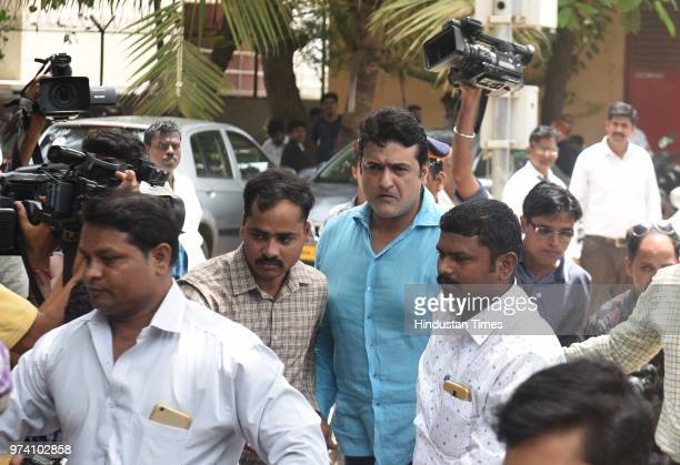Bollywood actor Armaan Kohli accused of allegedly assaulting his girlfriend Neeru Randhawa produced in Bandra Court on June 13 2018 in Mumbai India...