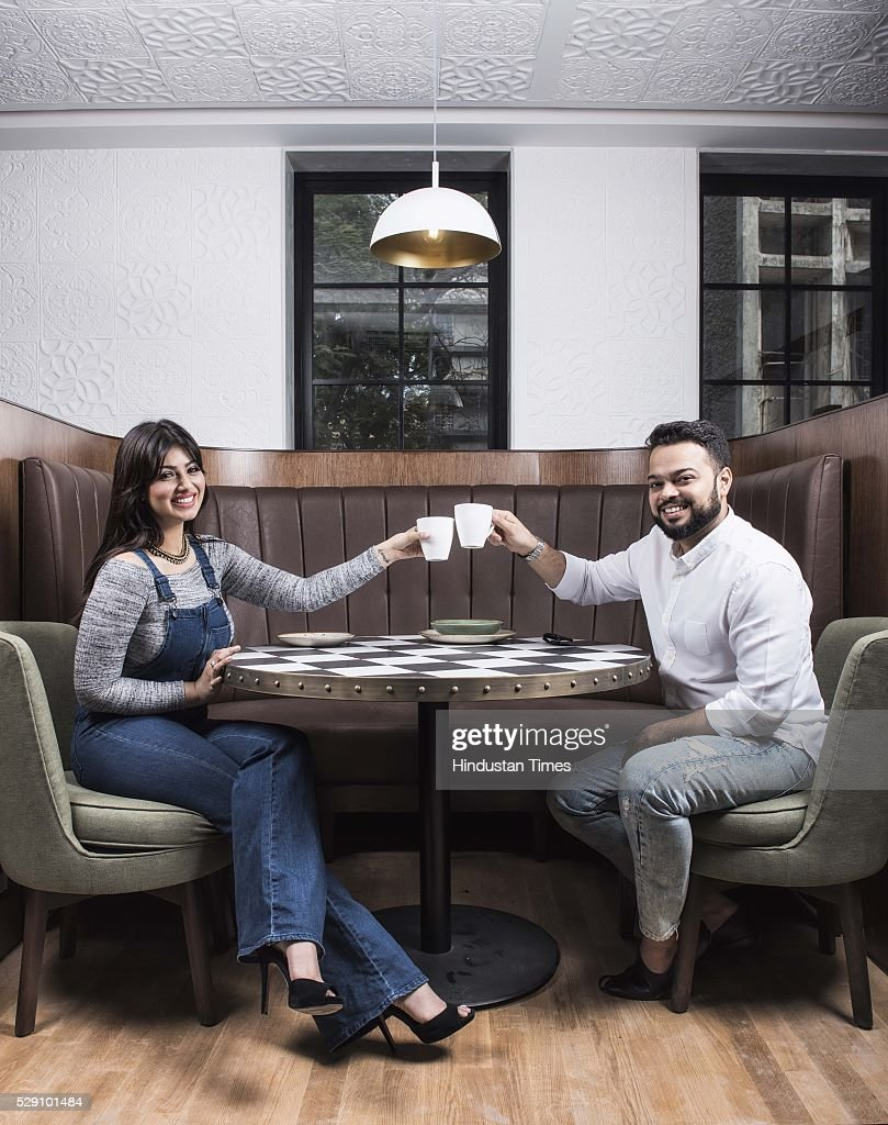 Bollywood actor Ayesha Takia with her husband Farhan Azmi during an exclusive interview with ht48hoursHindustan Times at Cafe Basilico Bandra on...