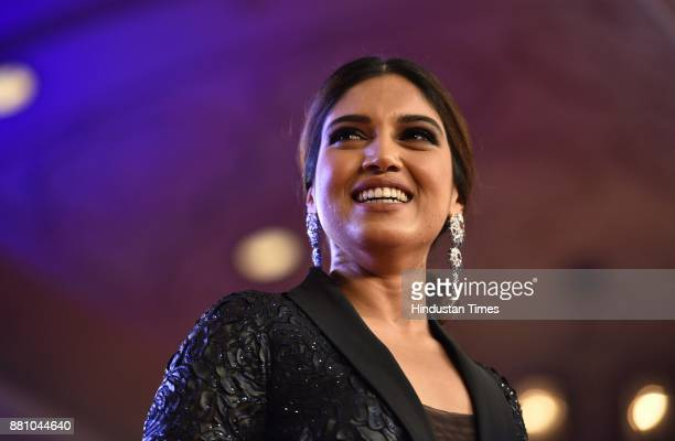 Bollywood actor Bhumi Pednekar during an award function night organised by Bag Films Network at Taj Palace Hotel on November 27 2017 in New Delhi...