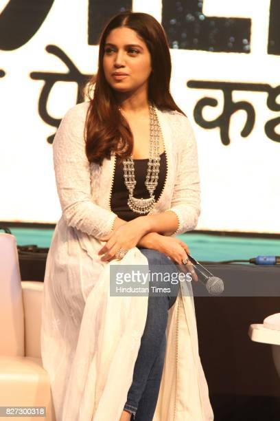 Bollywood actor Bhumi Pednekar during the 4th season finale of Hindustan Times Friday Jam to promote upcoming film 'Toilet Ek Prem Katha' in Cyber...