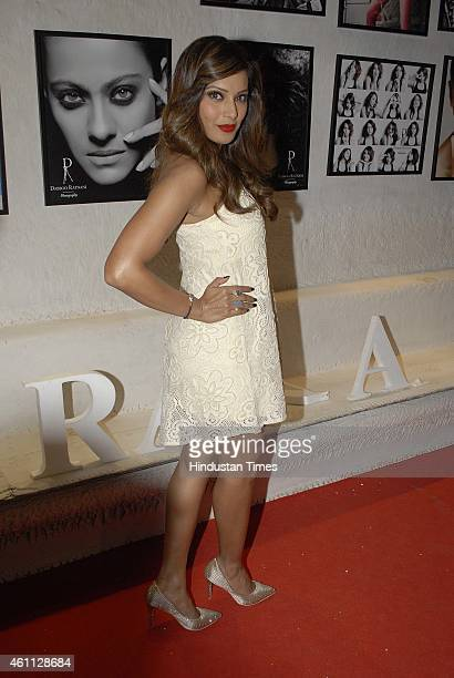 Bollywood actor Bipasha Basu during the launch of Fashion photographer Dabboo Ratnani's 2015 calendar on January 5 2015in Mumbai India