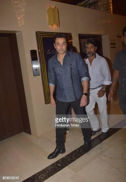 Bollywood actor Bobby Deol at the music launch of Marathi Film Bhikari on July 23 2017 in Mumbai India