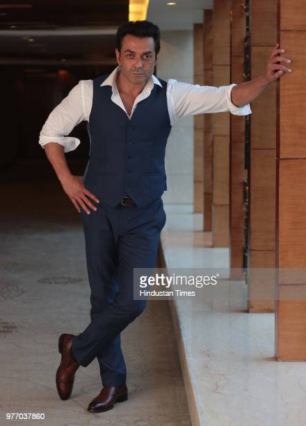 Bollywood actor Bobby Deol during an exclusive interview with for HT CityHindustan Times for the promotion of an upcoming movie Race 3 at the Leela...