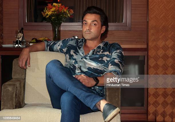 Bollywood actor Bobby Deol poses during an exclusive interview with HT CityHindustan Times for the promotion of upcoming movie Yamla Pagla Deewana 2...