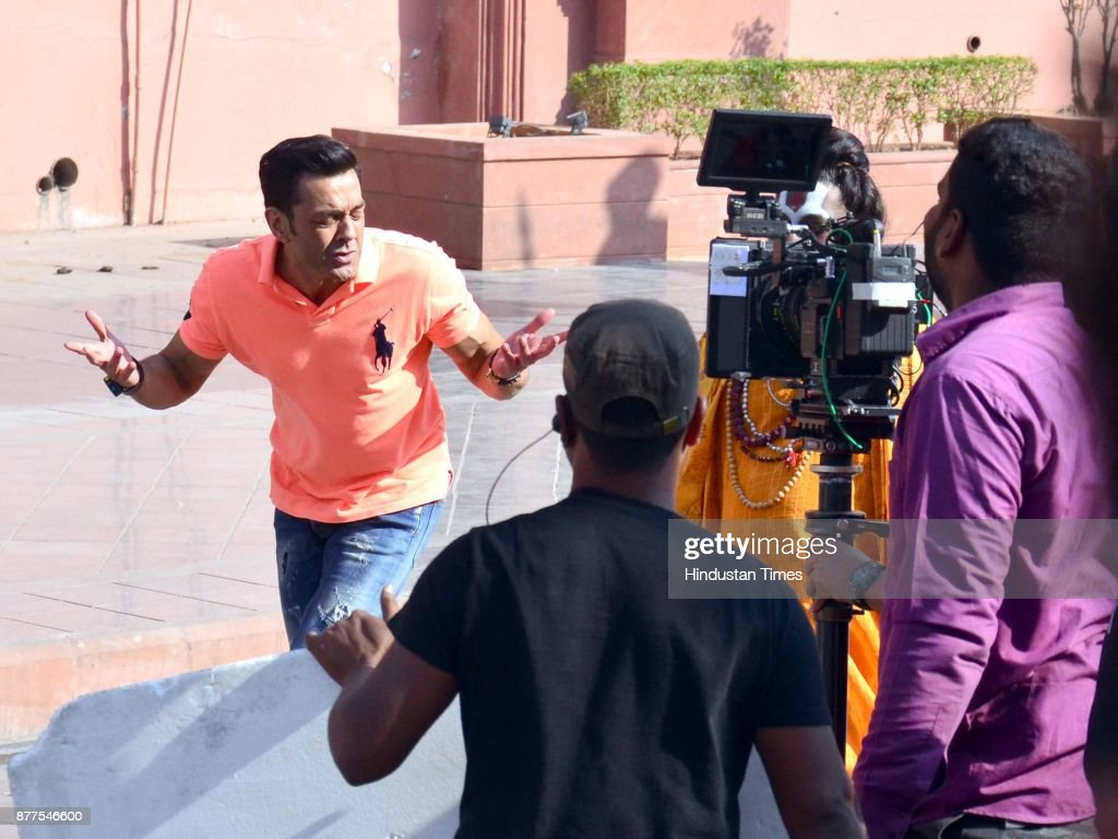 Bollywood actor Bobby Deol shooting for his upcoming Hindi movie Yamla Pagla Deewana 3 at Heritage Street on November 22 2017 in Amritsar India