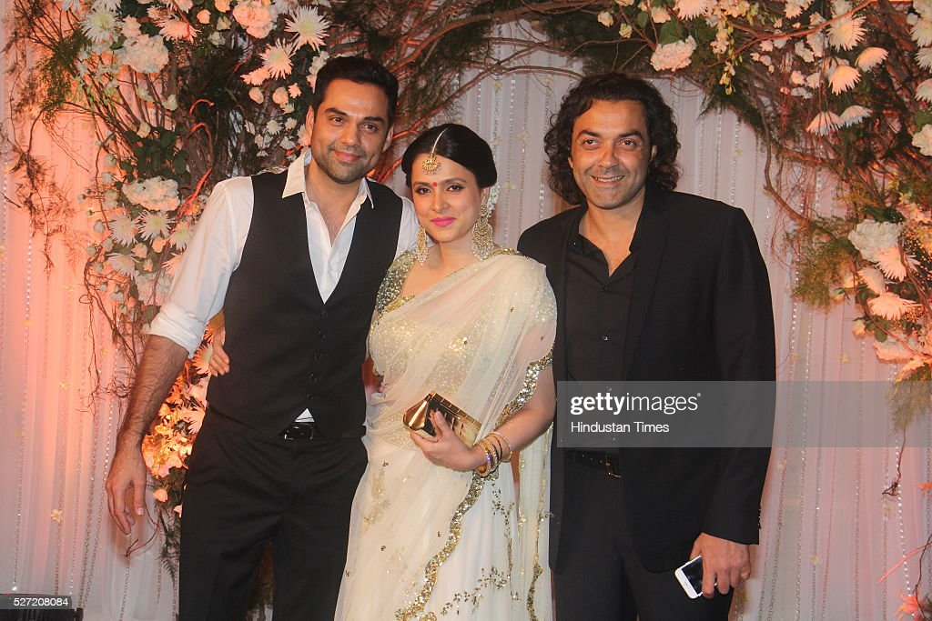 Bollywood Actor Bobby Deol With His Wife Tanya Deol And Actor Cousin