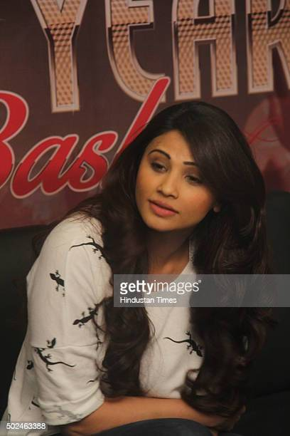 Bollywood actor Daisy Shah during a media interaction of her performance for Country Club during New Year's eve on December 23 2015 in Mumbai India