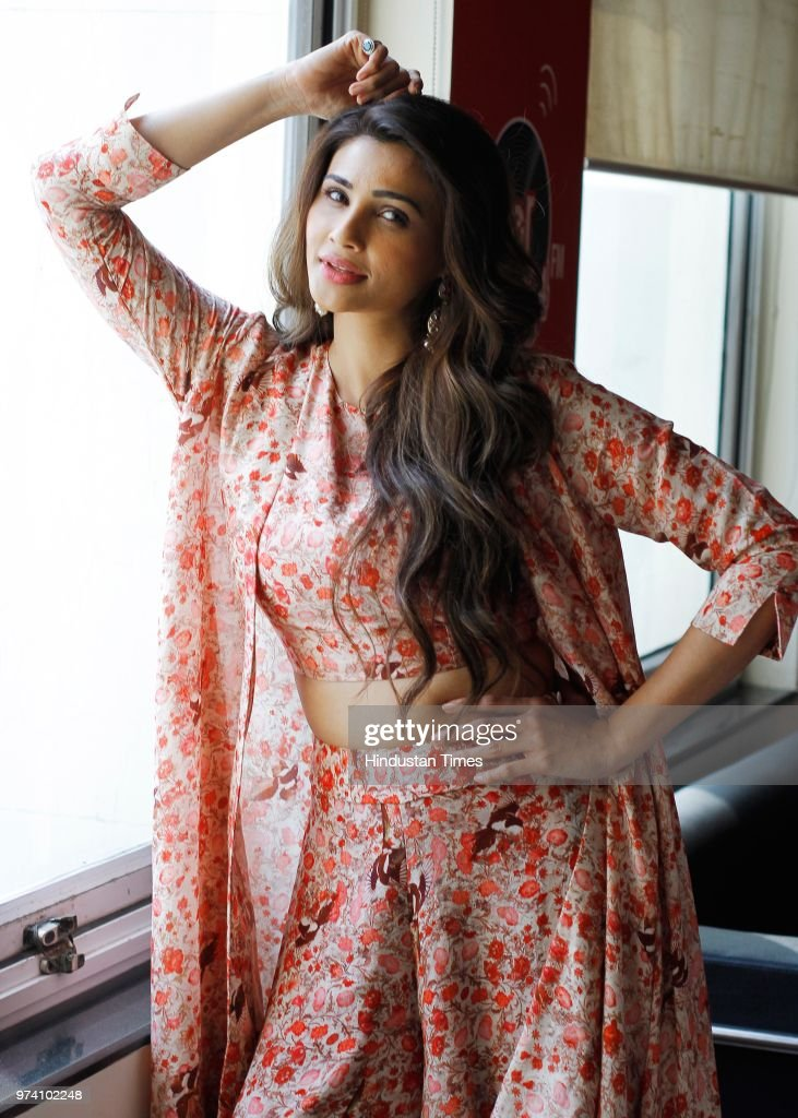 Bollywood actor Daisy Shah poses during an exclusive interview with HT City-Hindustan Times for the promotion of movie Ramratan, at HT Media Office on October26, 2017 in New Delhi, India. Ramratan is a romantic comedy film, written by Praful Parekh and directed by Govind Sakariya and produced by Sanjay Patel, Ashwin Patel and Bharat Dodiya, under the banner of Sab Star Movies.