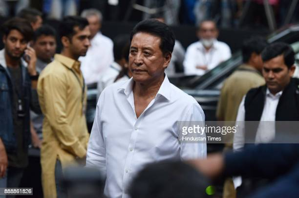 Bollywood actor Danny Denzongpa during a condolence meeting of late actor Shashi Kapoor at Prithvi Theatre Juhu on December 7 2017 in Mumbai India...
