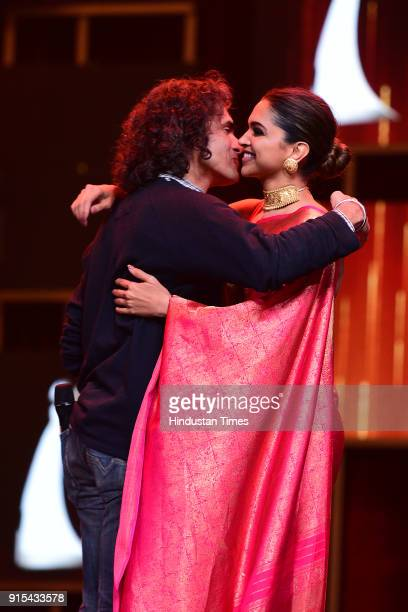 Bollywood actor Deepika Padukone with filmmaker Imtiaz Ali Hindustan Times India's Most Stylish Awards at Yash Raj Films Private Limited on January...