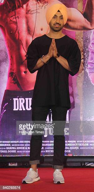 Bollywood actor Diljit Dosanjh during a press conference of Udta Punjab at J W Marriott Juhu on June 14 2016 in Mumbai India The film which was...