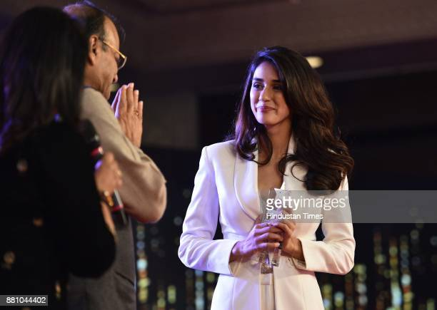 Bollywood actor Disha Patani during an award function night organised by Bag Films Network at Taj Palace Hotel on November 27 2017 in New Delhi India