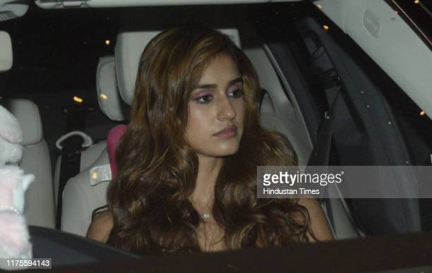 Bollywood actor Disha Patani spotted in Andheri for the screening of the movie War on October 1 2019 in Mumbai India