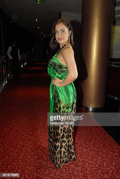 Bollywood actor Elli Avram during the Gionee FHM 100 Sexiest Women in the World 2014 Party on July 2 2014 in Mumbai India