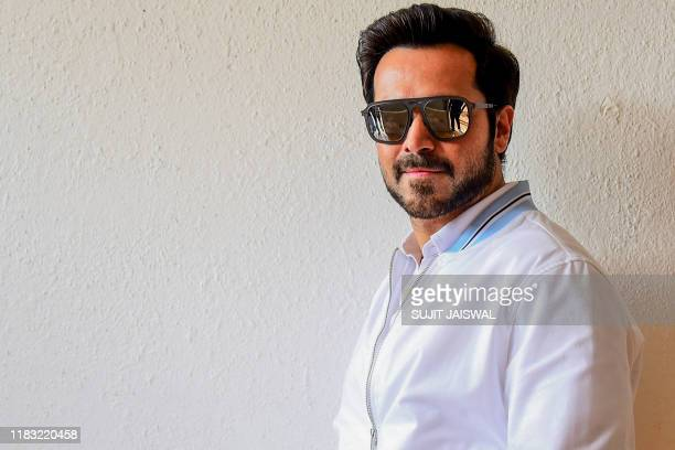 Bollywood actor Emraan Hashmi poses during the promotion of their upcoming Hindi film 'The Body' in Mumbai on November 18 2019