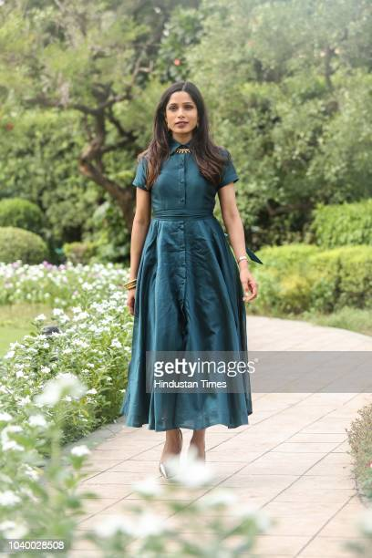 Bollywood actor Freida Pinto poses during an exclusive interview with HT CityHindustan Times for the upcoming movie Love Sonia on September 13 2018...