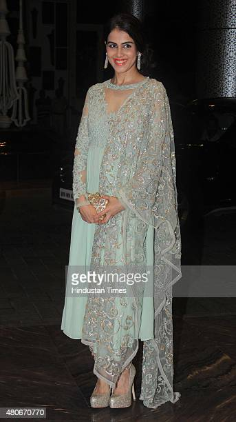 Bollywood Actor Genelia DSouza During The Wedding Reception Of Shahid Kapoor At
