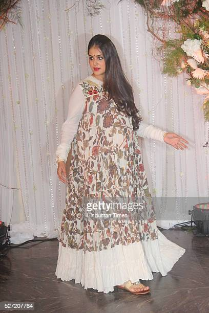 Bollywood actor Genelia D'Souza who is soon going to give birth to her second baby at wedding reception of couple Bipasha Basu and Karan Singh on...