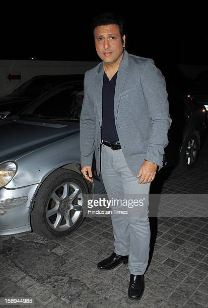 Bollywood actor Govinda attending special screening hosted by Ritesh Deshmukh for his first home production Marathi film 'Balak Palak' at PVR Juhu on...