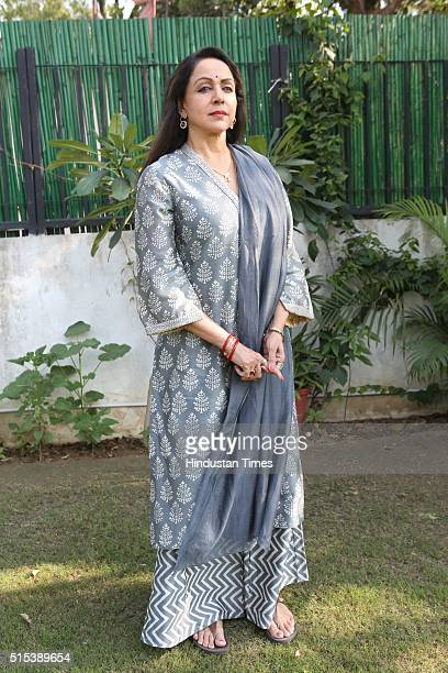 Bollywood actor Hema Malini posing for a profile shoot for HT CityHindustan Times on March 8 2016 in New Delhi India Malini said I miss staying in...