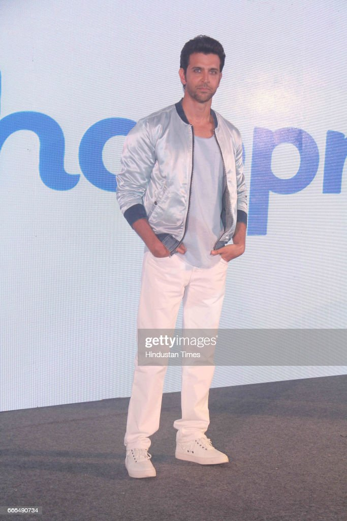Bollywood actor Hrithik Roshan during the launch of a dating