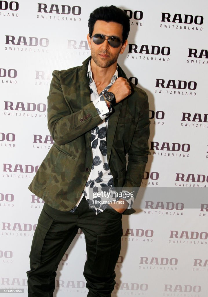 Bollywood Actor Hrithik Roshan At The Launch Of Rado's New Store