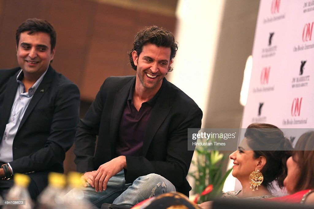Bollywood actor Hrithik Roshan with his mother Pinky Roshan